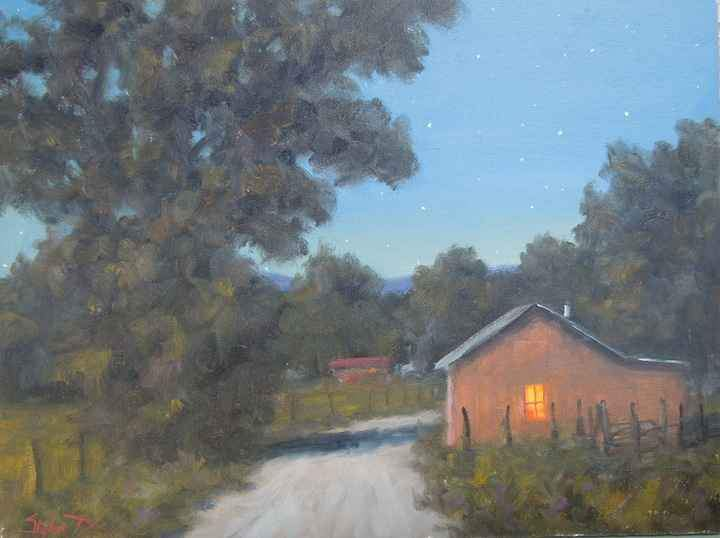 Stephen Day-Summer Night On The High Road-Sorrel Sky Gallery-Painting