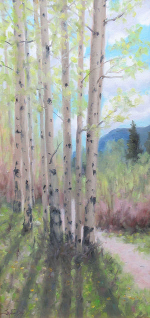Stephen Day-Trailside Aspen-Sorrel Sky Gallery-Painting
