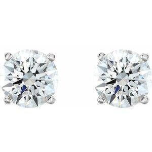 14K White 1 1/2 CTW Diamond Stud Earrings
