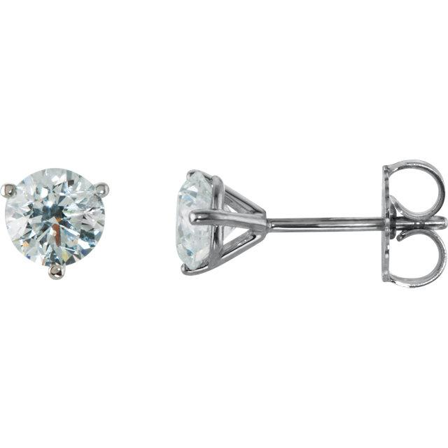 3/4 Ctw Diamond Stud Earrings