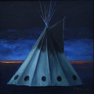 One Ray Left-Painting-Tamara Rymer-Sorrel Sky Gallery