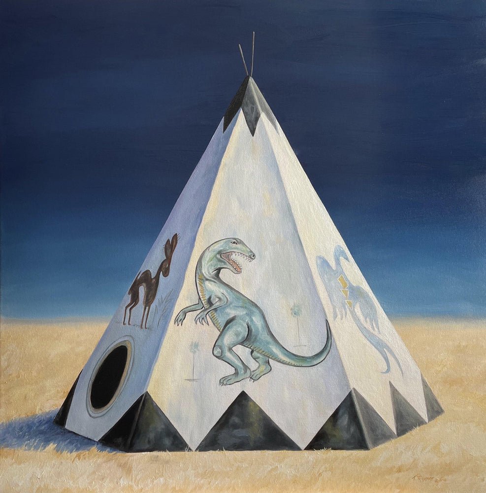 They Saw The Dinosaur-Painting-Tamara Rymer-Sorrel Sky Gallery