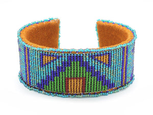 Teri Greeves-Sorrel Sky Gallery-Jewelry-Tipi On Teal Bracelet