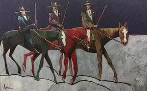 Garrett Rode The Red Horse-Painting-Thom Ross-Sorrel Sky Gallery