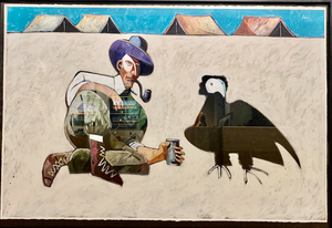 Granger and his Pet Vulture-Painting-Thom Ross-Sorrel Sky Gallery