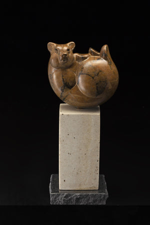 Bear Ball (Study)-Sculpture-Tim Cherry-Sorrel Sky Gallery