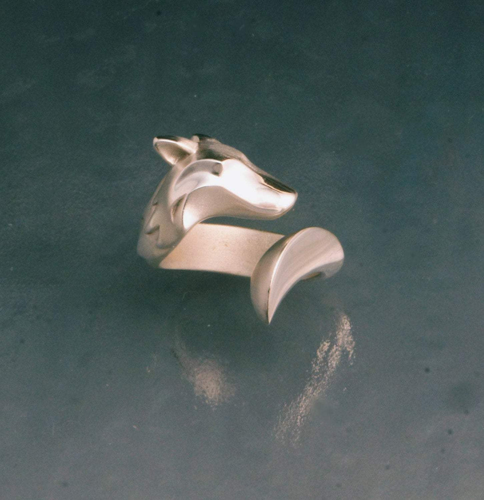 Timber Wolf Ring - Sterling Silver