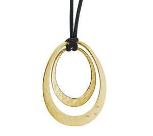 14K Gold Oval Solar Eclipse Twilight Pendant-Jewelry-Toby Pomeroy-Sorrel Sky Gallery