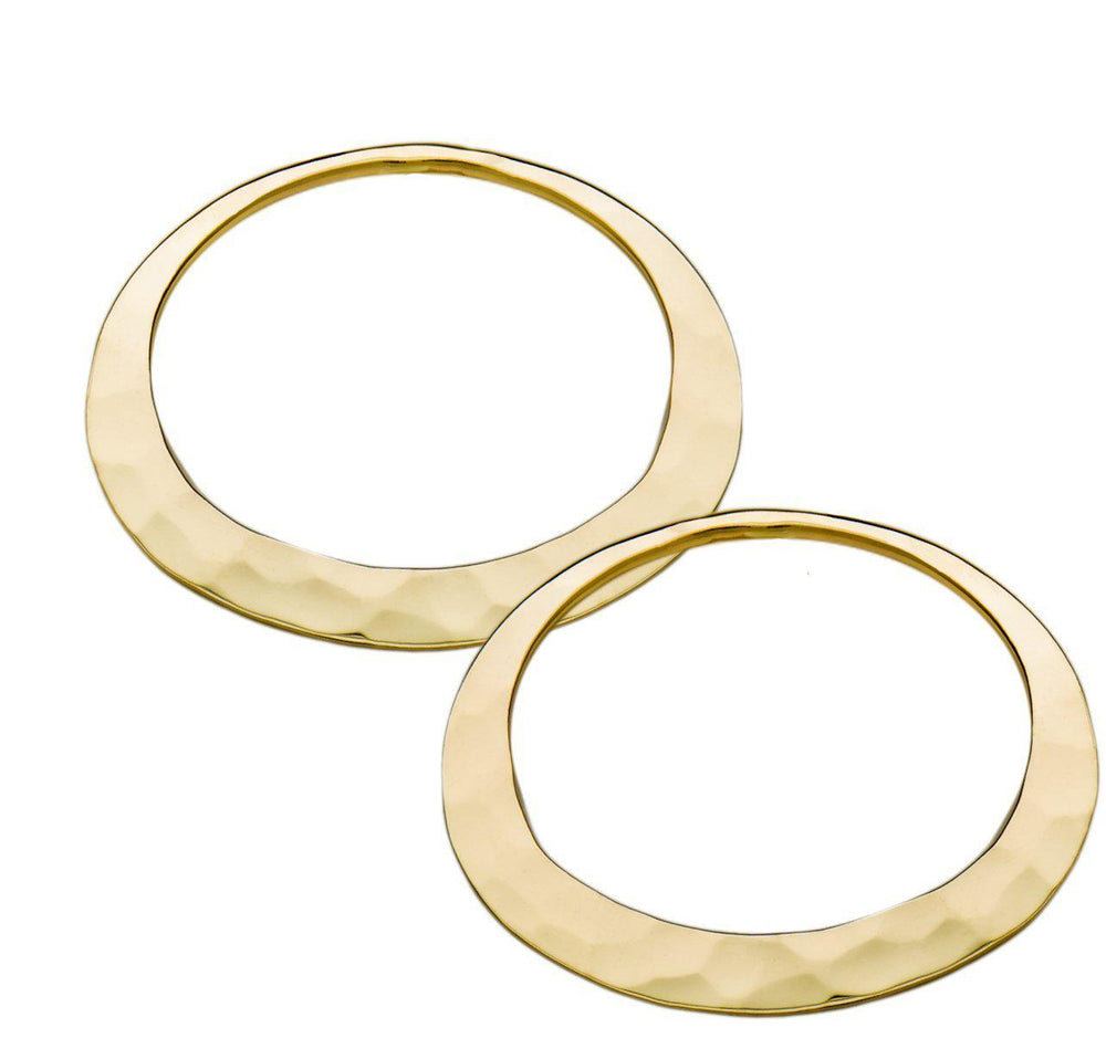 18K Gold Eclipse Hoop Earrings
