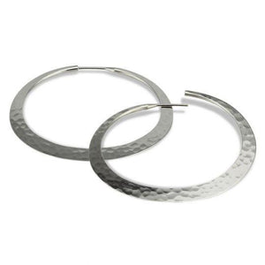 Toby Pomeroy-32mm Eclipse Hoop Earrings-Sorrel Sky Gallery-Jewelry
