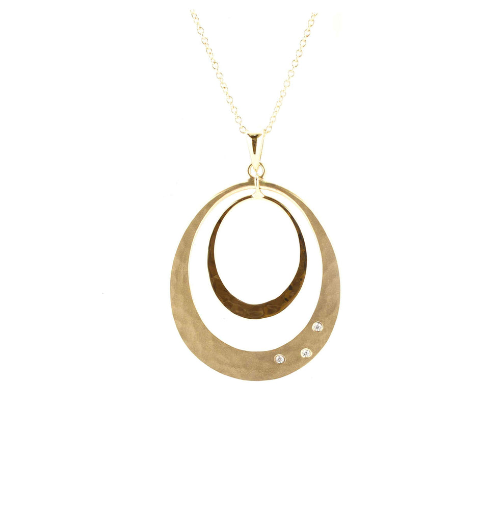 34mm Oval Solar Eclipse Pendant