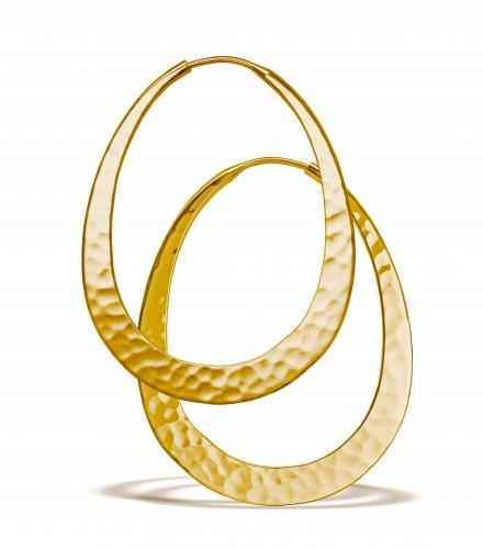 Toby Pomeroy-48mm Oval Hoop Earrings-Sorrel Sky Gallery-Jewelry