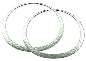 Toby Pomeroy-55mm Eclipse Hoop Earrings-Sorrel Sky Gallery-Jewelry