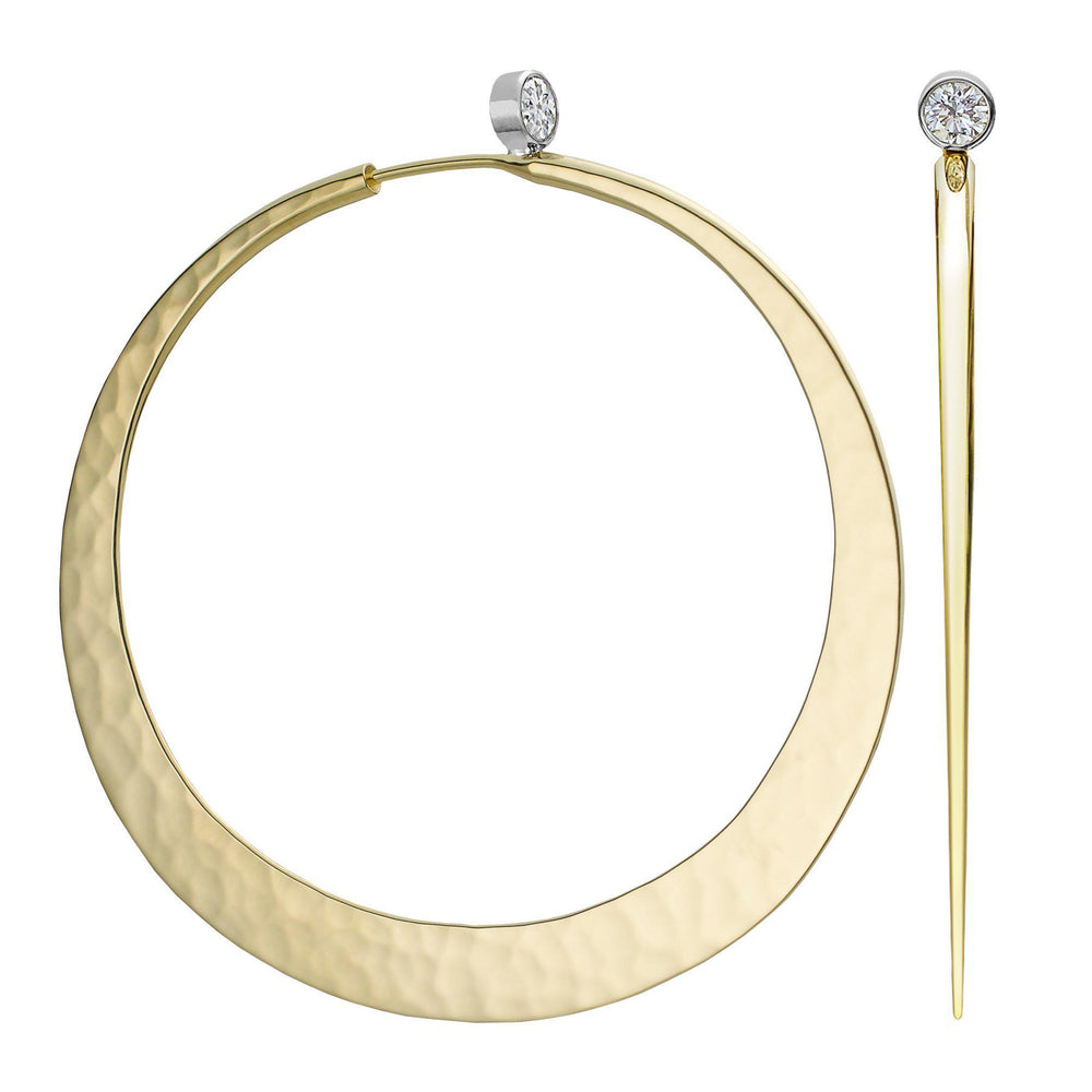 Brilliant Eclipse Diamond Hoop Earrings