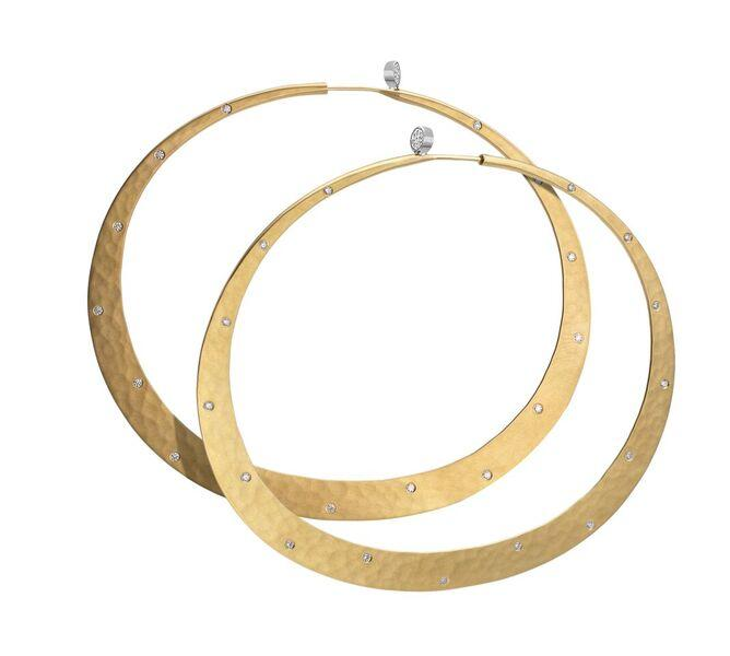 Brilliant Eclipse Mist Hoop Earrings-Jewelry-Toby Pomeroy-Sorrel Sky Gallery