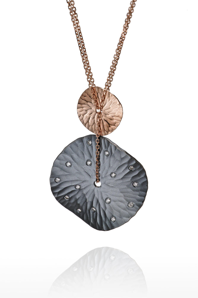Diamond Oasis Two Tone Medallion Pendant