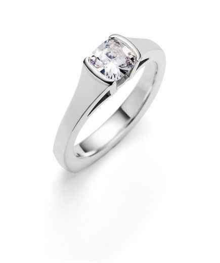Toby Pomeroy-Galatea Cushion Cut Engagement Ring-Sorrel Sky Gallery-Jewelry