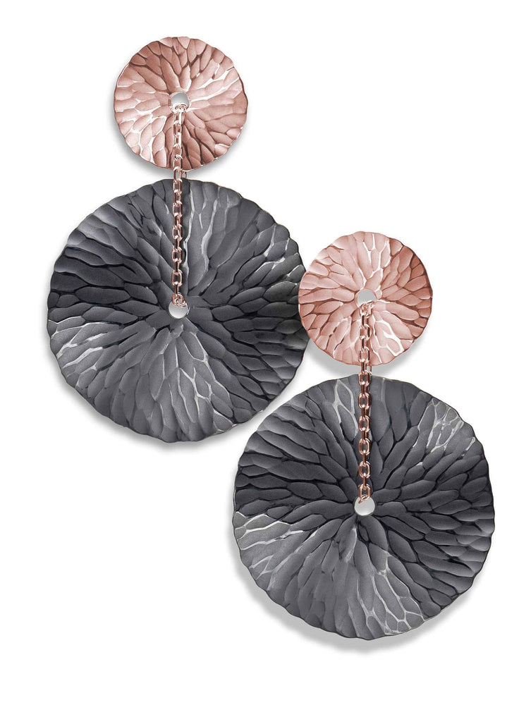 Toby Pomeroy-Oasis Two Tone Medallion Earrings-Sorrel Sky Gallery-Jewelry