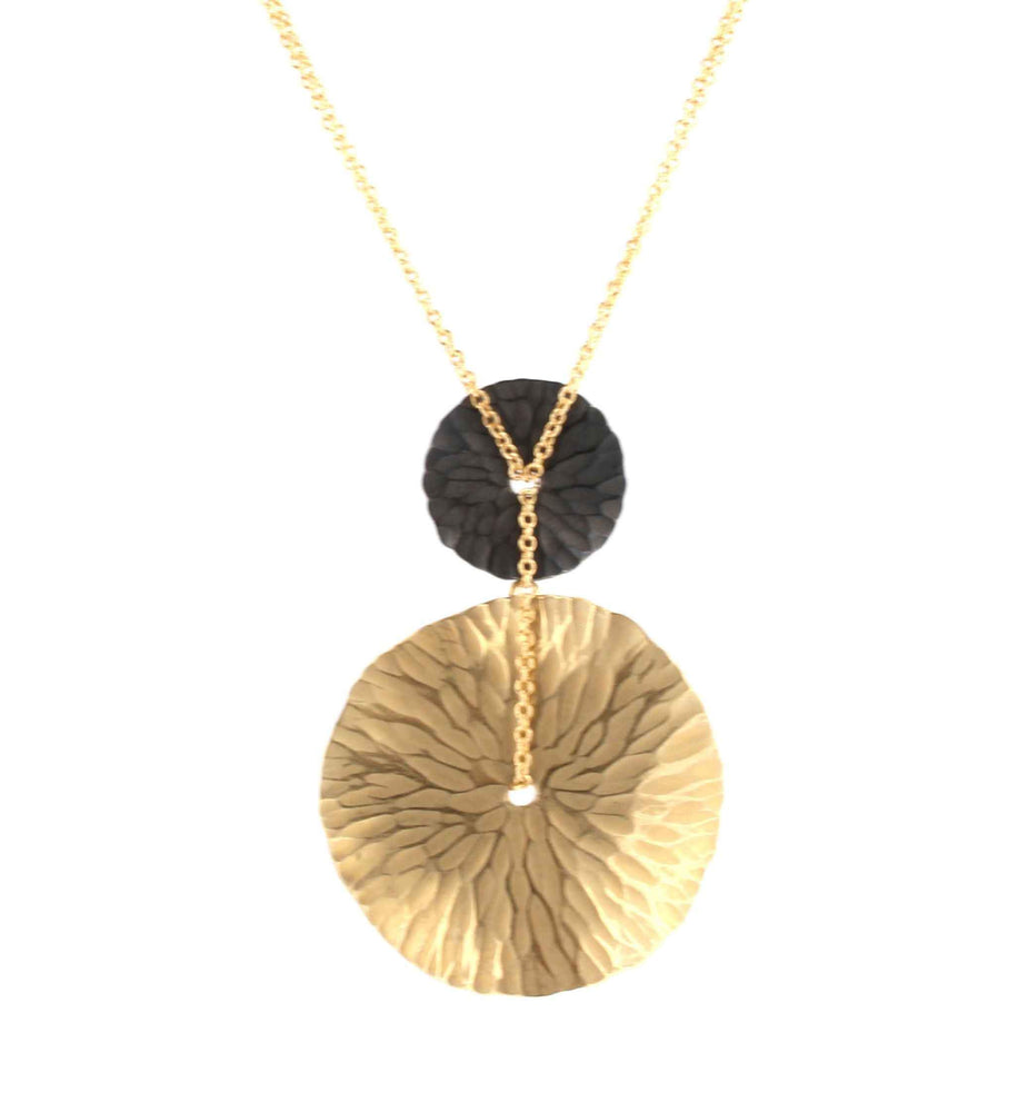Toby Pomeroy-Oasis Two Tone Medallion Pendant-Sorrel Sky Gallery-Jewelry