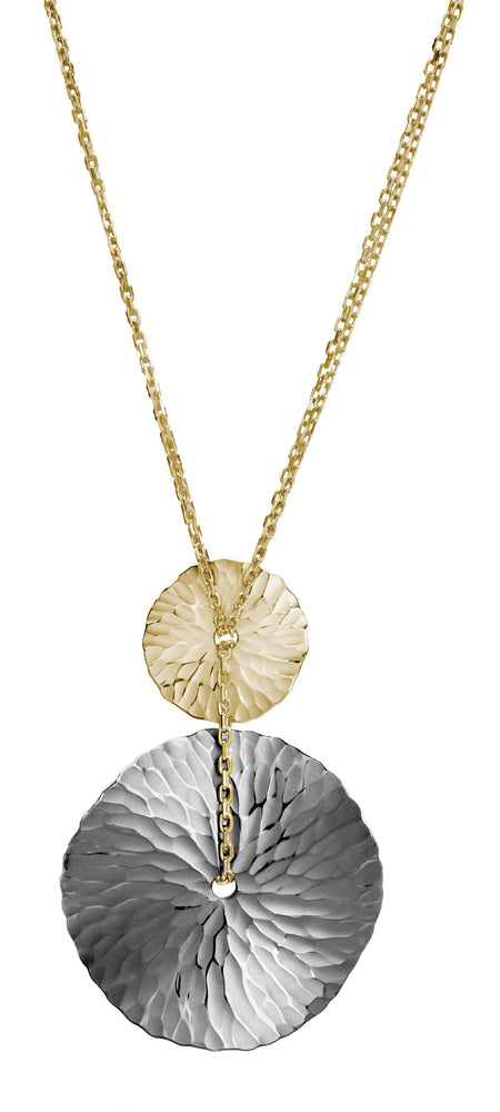Oasis Two Tone Medallion Pendant-Jewelry-Toby Pomeroy-Sorrel Sky Gallery