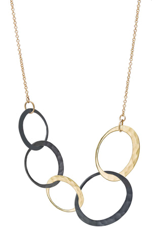 Toby Pomeroy-Petite Eclipse 5-Link Necklace-Sorrel Sky Gallery-Jewelry