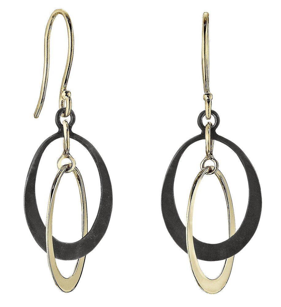 Two Tone Double Petite Eclipse Earrings