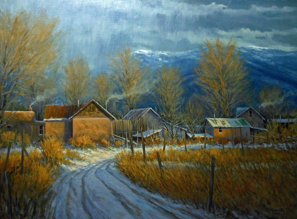 Passing Showers Over Ranchitos-Painting-Tom Lockhart-Sorrel Sky Gallery