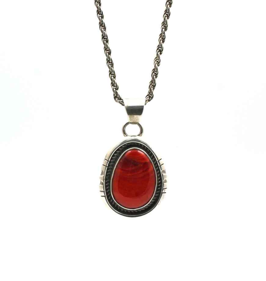 Sterling silver pendant with orange agate by Victor Gabriel