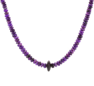 Victor Gabriel-Sorrel Sky Gallery-Jewelry-Sugilite Bead Necklace