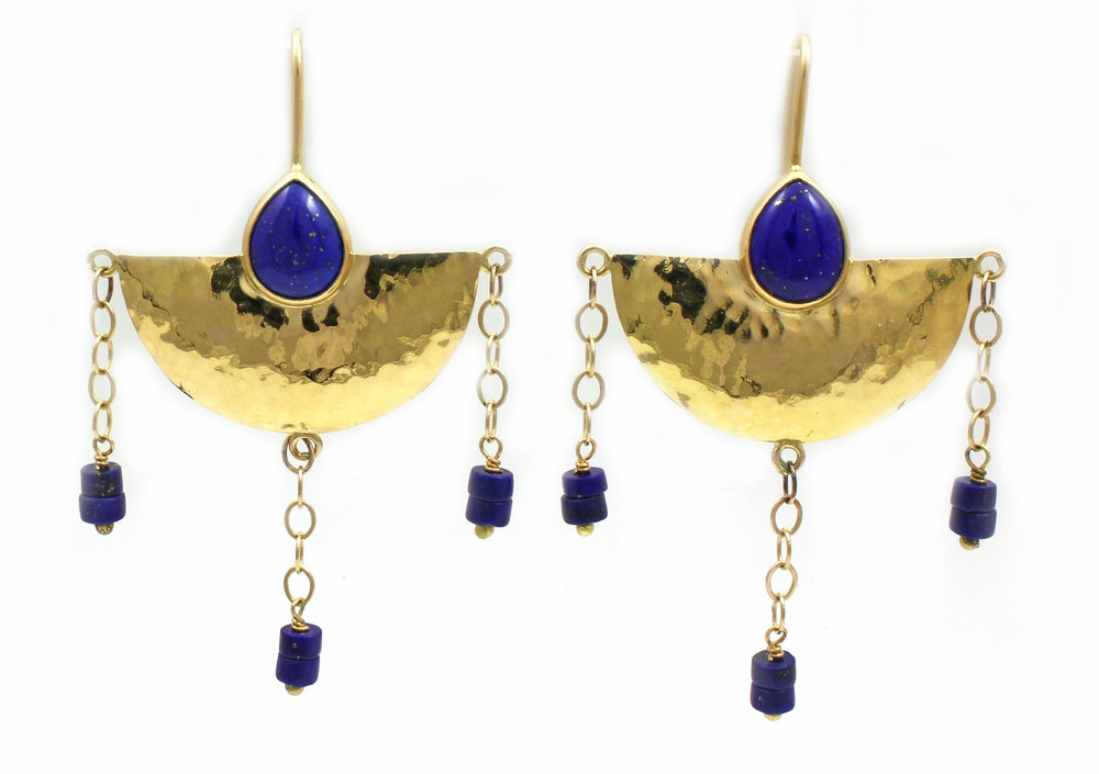 Half Moon in Tuscany Earrings-Jewelry-Victoria Adams-Sorrel Sky Gallery