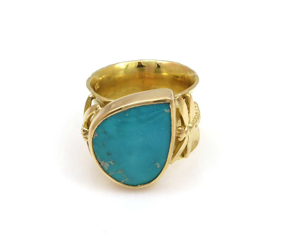 Morenci Turquoise Ring-Jewelry-Victoria Adams-Sorrel Sky Gallery