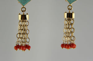 Victoria Adams-Sorrel Sky Gallery-Jewelry-Turquoise and Coral Earrings