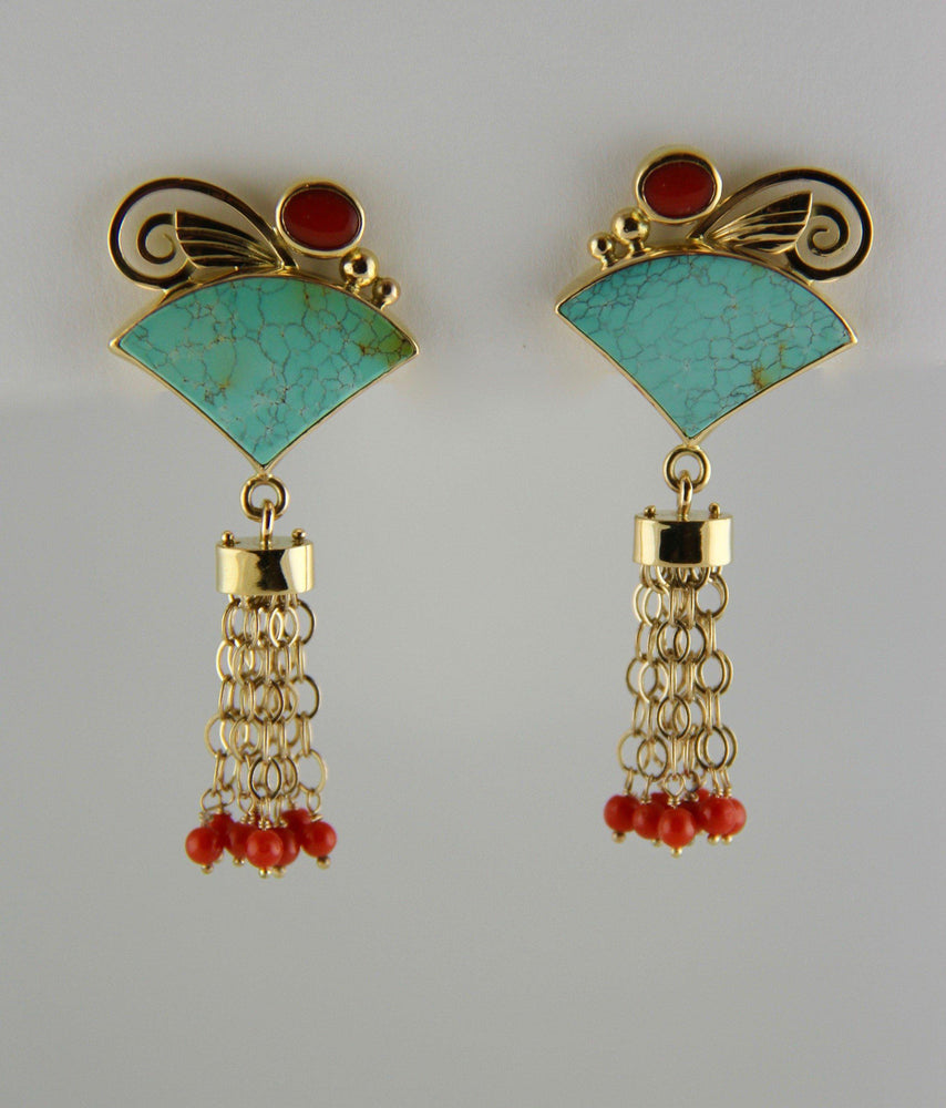 Victoria Adams Sorrel Sky Gallery. Turquoise Earrings. Victoria Adams Jewelry. Native American Jewelry.  Authentic Indian Jewelry.