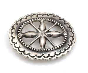 Sandcast Belt Buckle-Jewelry-Wilson & Carol Begay-Sorrel Sky Gallery