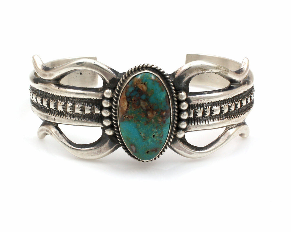 Sandcast Tyrone Turquoise Cuff Bracelet