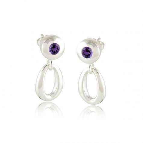 Zina Sterling-Sorrel Sky Gallery-Jewelry-Amethyst Stud With Loop Drop Earrings