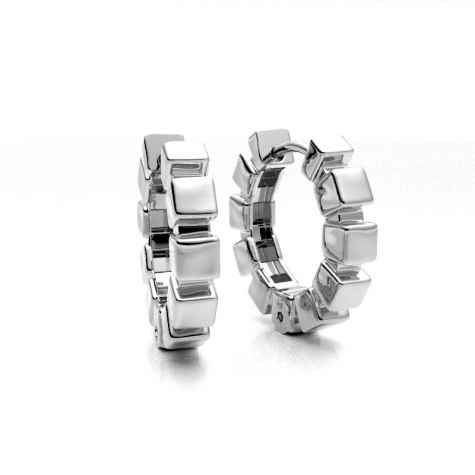 Cubes Snap Hoop Earrings