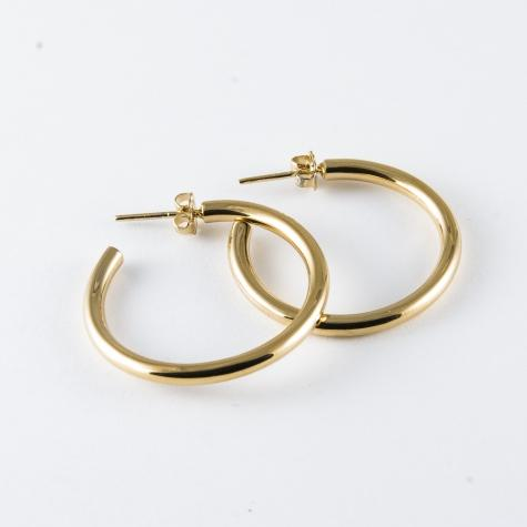 Medium Tube Hoop Earrings