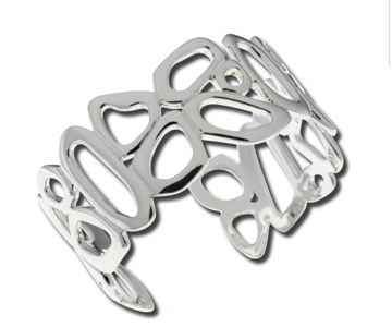 Zina Sterling-Sorrel Sky Gallery-Jewelry-Open Touchstone Bracelet
