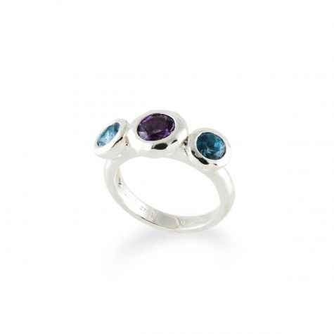 Ripple Three Stone Ring