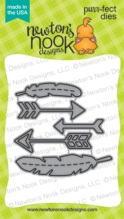Newton's Nook Designs:  Points & Plumes Die Set