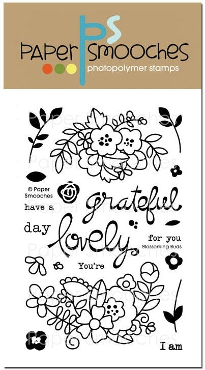 Paper Smooches:  Blossoming Buds stamp set