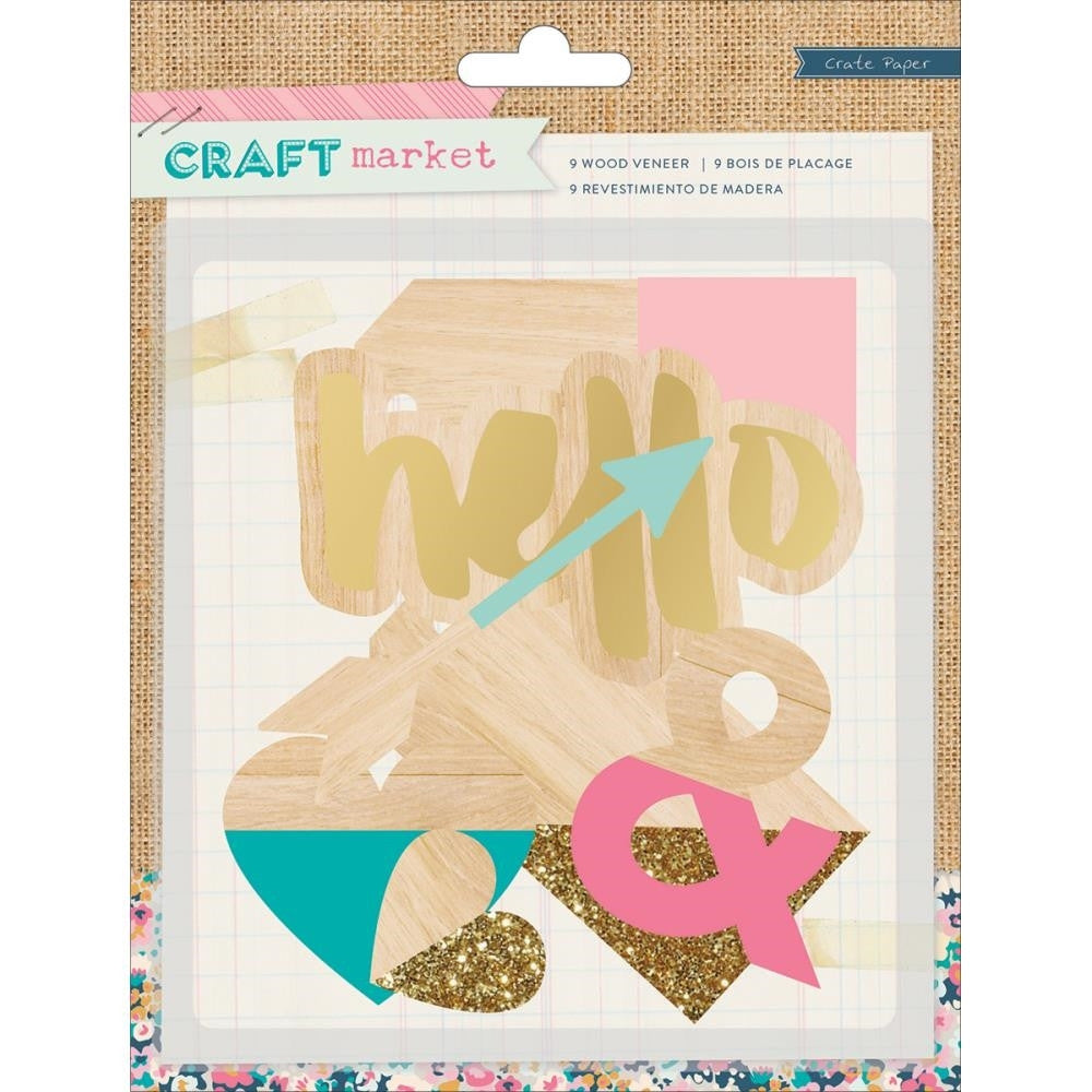 Crate Paper: Craft Market Wood Veneer Die Cuts