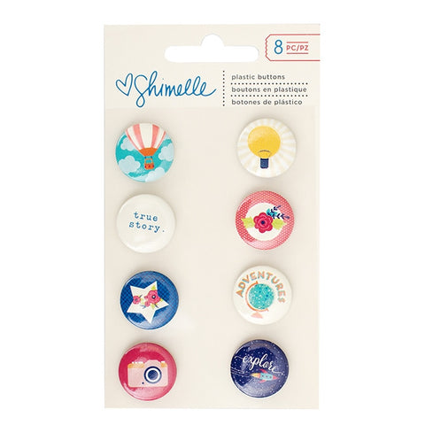 American Crafts Shimelle: Flair Plastic Buttons Starshine