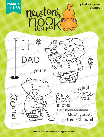Newton's Nook Designs: Winston's Tee Time Stamp Set