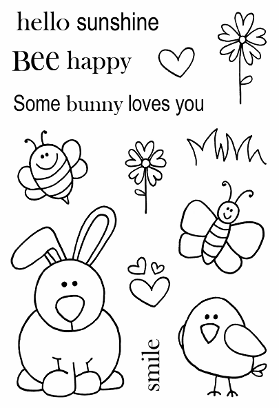 Jane's Doodles: Boris the Bunny Stamp Set