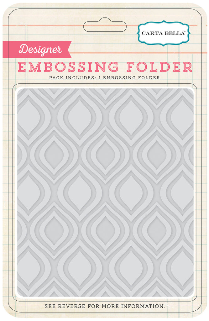 Carta Bella: Ogee Embossing Folder