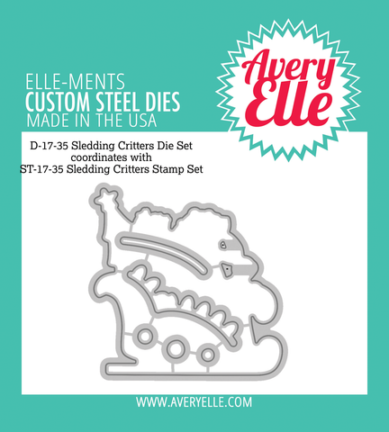 Avery Elle: Sledding Critters Die Set