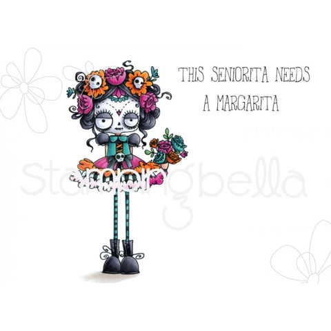 Stamping Bella: Day Of The Dead Oddball Rubber Stamp Set