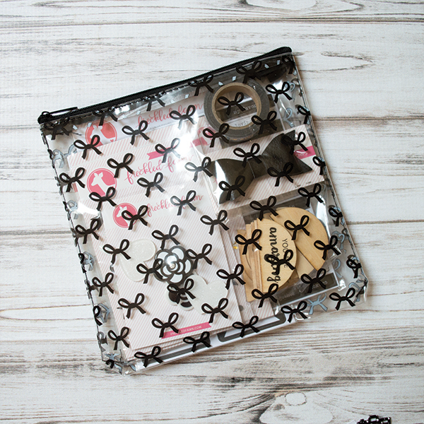 Freckled Fawn: Black Bows Zipper Pouch